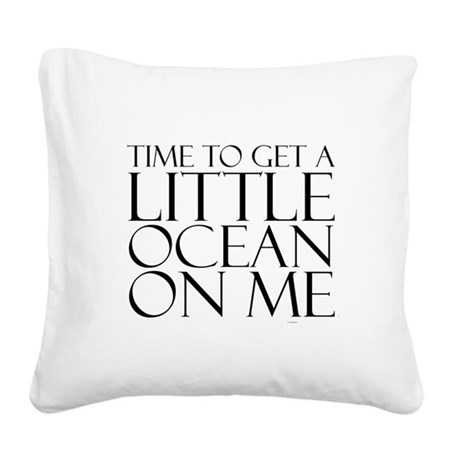 Ocean Time Square Canvas Pillow