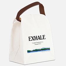 exhalenpcircle.png Canvas Lunch Bag