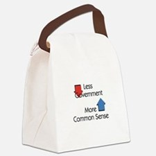 Less Government Canvas Lunch Bag
