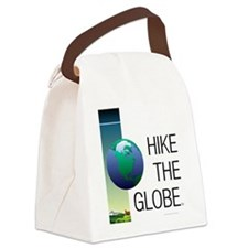 TOP Hike the Globe Canvas Lunch Bag