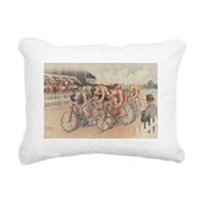 Cycling Race Rectangular Canvas Pillow
