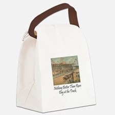 TOP Horse Racing Canvas Lunch Bag