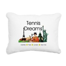 TOP Tennis Dreams Rectangular Canvas Pillow