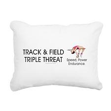 Women's Track and Field Slogan Rectangular Canvas