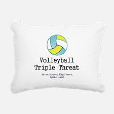 Volleyball Slogan Rectangular Canvas Pillow