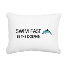TOP Swim Slogan Rectangular Canvas Pillow