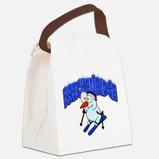 Breckenridge Snowman.png Canvas Lunch Bag