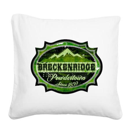 Breckenridge Powdertown Spring Square Canvas Pillo