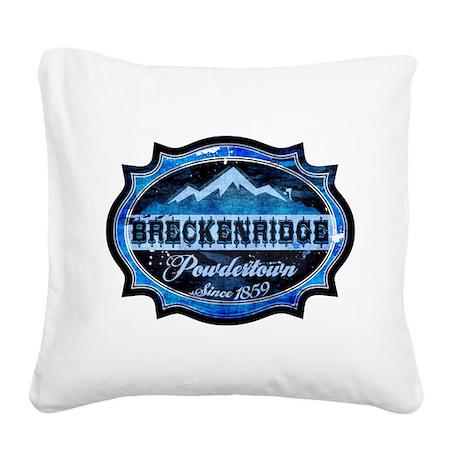 Breckenridge Powdertown Ice Square Canvas Pillow