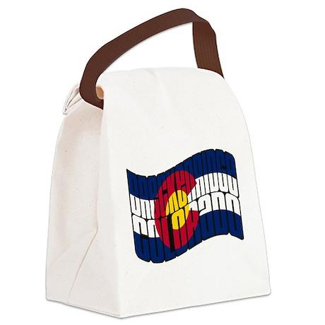 Breckenridge Colorado Flag.png Canvas Lunch Bag