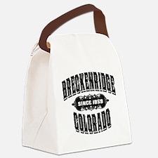 Breckenridge Since 1859 Black.png Canvas Lunch Bag