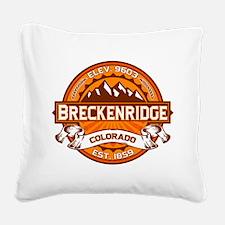 Breckenridge Tangerine Square Canvas Pillow