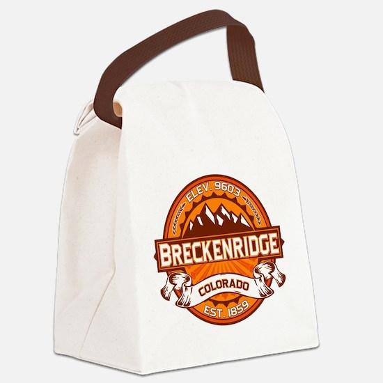 Breckenridge Tangerine Canvas Lunch Bag