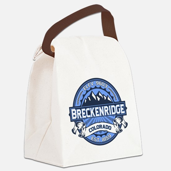 Breckenridge Blue Canvas Lunch Bag