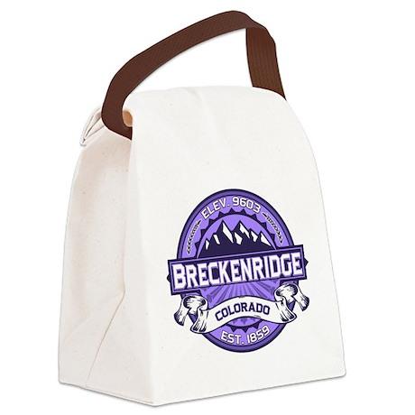 Breckenridge Purple Canvas Lunch Bag