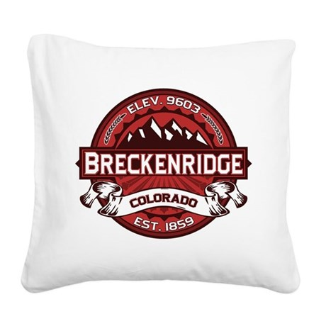 Breckenridge Red Square Canvas Pillow