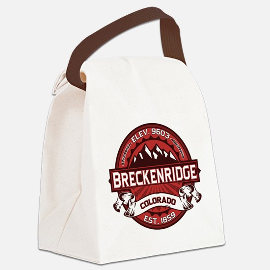 Breckenridge Red Canvas Lunch Bag