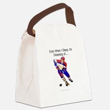 hockeydreamingbumper.png Canvas Lunch Bag
