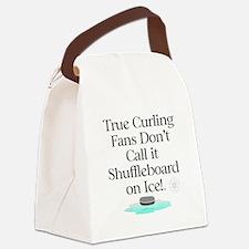 Curling Slogan Canvas Lunch Bag