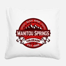 Manitou Shirt Logo Red.png Square Canvas Pillow