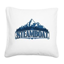 Steamboat Blue Mountain.png Square Canvas Pillow
