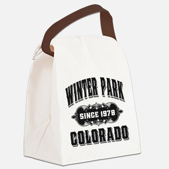 Winter Park Since 1978 Black.png Canvas Lunch Bag