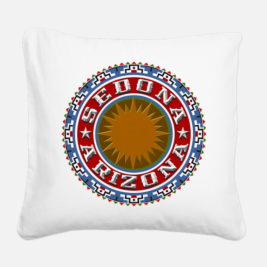 Sedona Circle.png Square Canvas Pillow