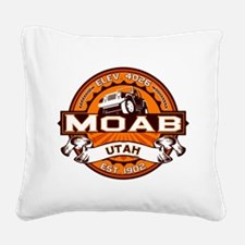 Moab Orange Square Canvas Pillow