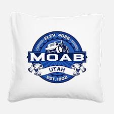 Moab City Logo Cobalt.png Square Canvas Pillow