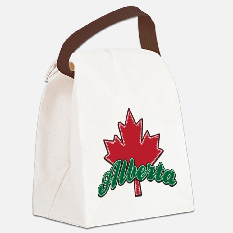 Alberta Maple Leaf.png Canvas Lunch Bag