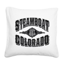 Steamboat 1884 Black Silver.png Square Canvas Pill
