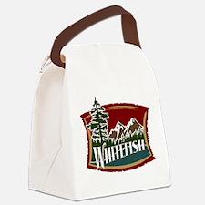Whitefish Lake Mountain.png Canvas Lunch Bag