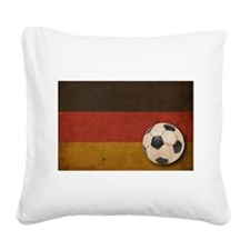 Vintage Germany Football Square Canvas Pillow