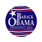 "Barack Obama Star and Stripes 3.5"" Button"