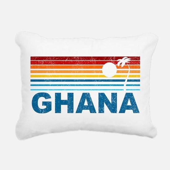 Retro Palm Tree Ghana Rectangular Canvas Pillow