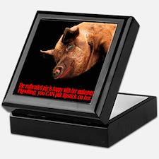 The Redheaded Pig Keepsake Box