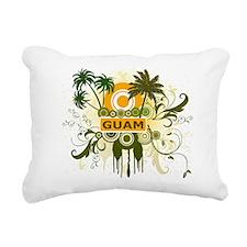 Guam Palm Tree Rectangular Canvas Pillow