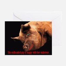 The Redheaded Pig Greeting Cards (Pk of 10)