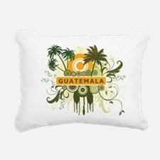 Palm Tree Guatemala Rectangular Canvas Pillow