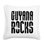 Guyana Rocks Square Canvas Pillow