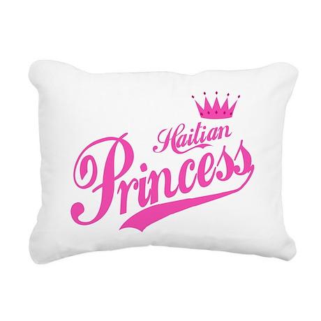 Haitian Princess Rectangular Canvas Pillow
