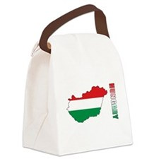 Map Of Hungary Canvas Lunch Bag