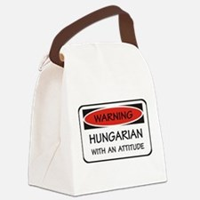 Attitude Hungarian Canvas Lunch Bag