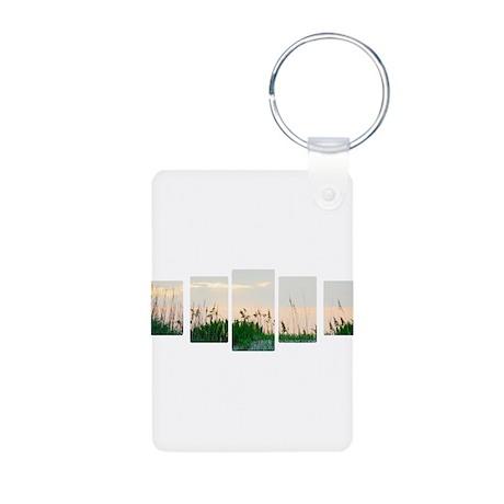 Outer Banks Sunrise Aluminum Photo Keychain