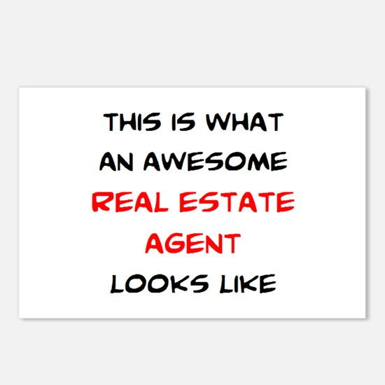 awesome real estate agent Postcards (Package of 8)