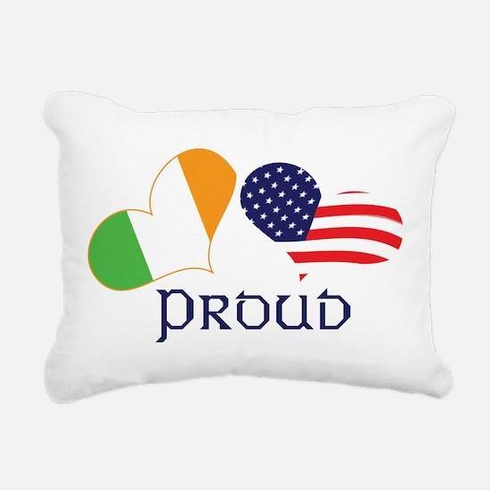 Proud Irish American Rectangular Canvas Pillow