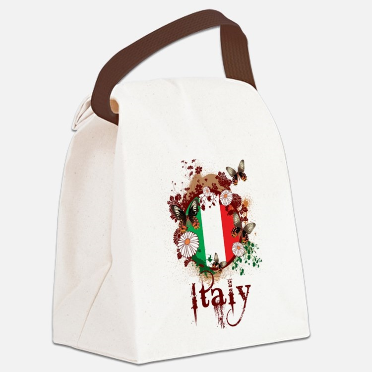 Butterfly Italy Canvas Lunch Bag