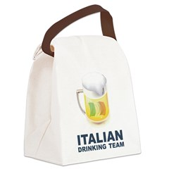 Italian Drinking Team Canvas Lunch Bag