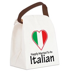 Happily Married Italian Canvas Lunch Bag