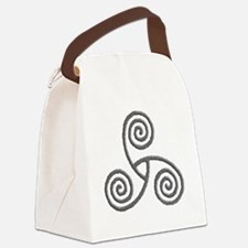 Celtic Triple Spiral Canvas Lunch Bag